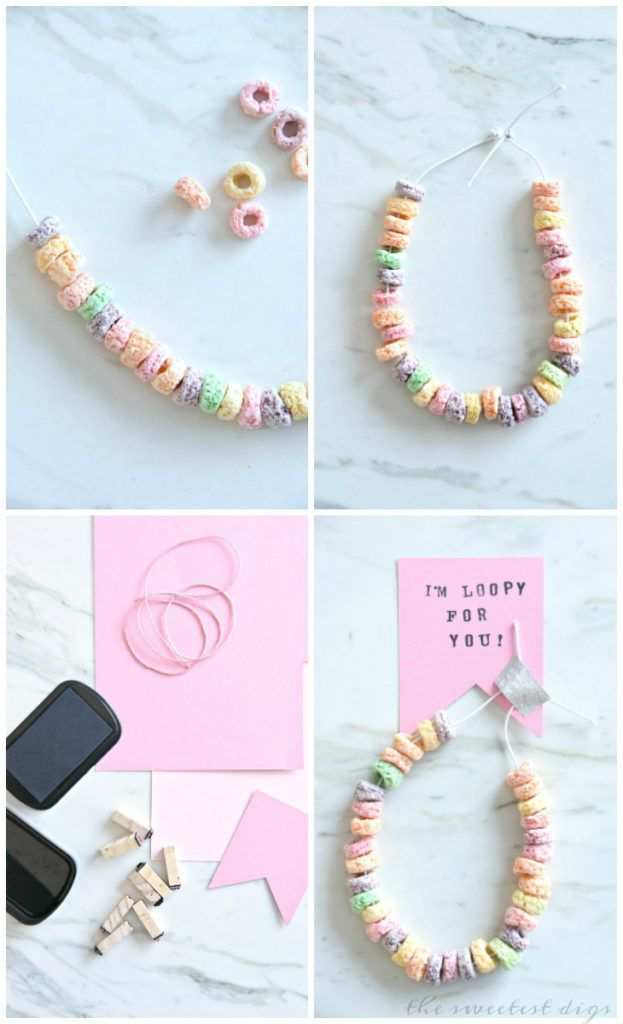 craft ideas homemade bridal shower decoration%0A Bridal shower    DIY Valentines Candy Necklace   Make this cute kids craft