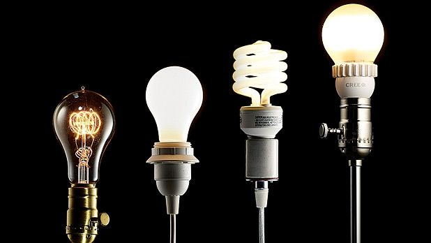 LED lightbulbs are cheaper, give better light, and last longer.