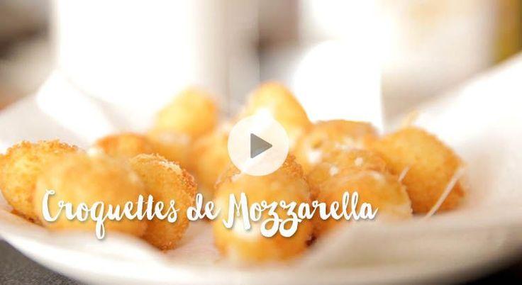 Découvrez la recette en vidéo de délicieuses croquettes de Mozzarella, ultra fondantes !