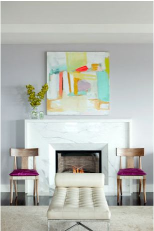 Bear Hill Interiors: Interior Design, Living Rooms, Color, Fireplaces, Art, Marble Fireplace, Painting