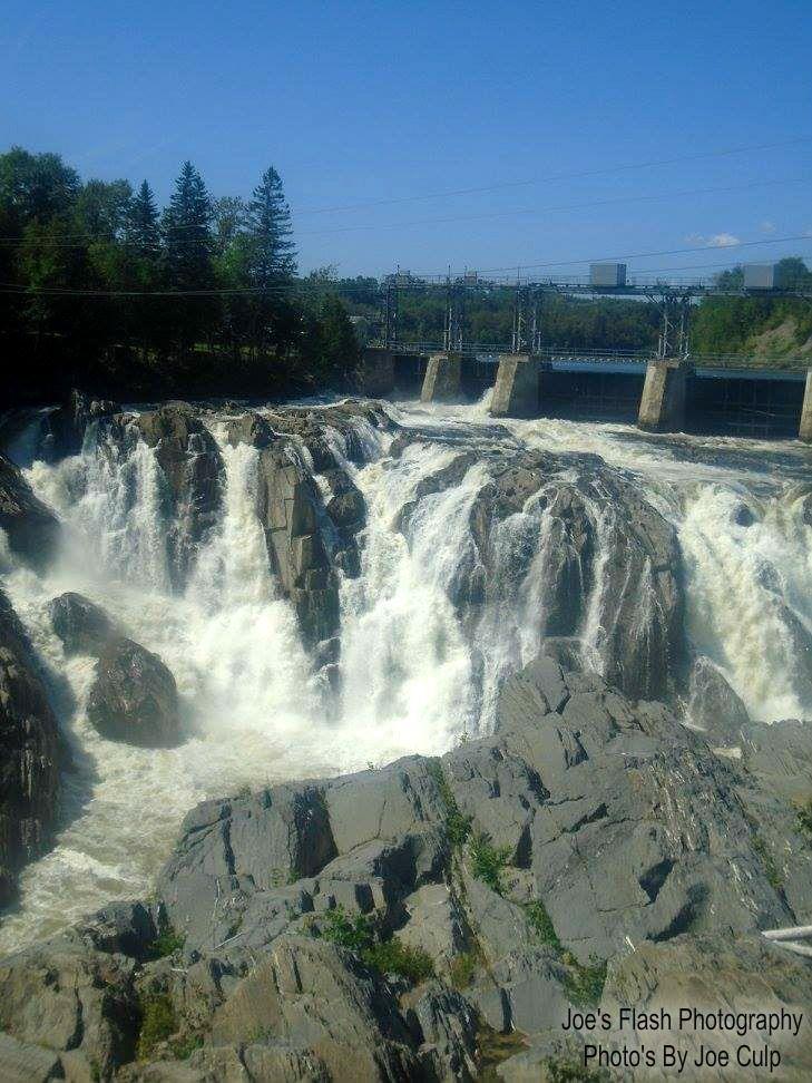 The Grand falls in Grand falls/Grand Sault New Brunswick August 28, 2017