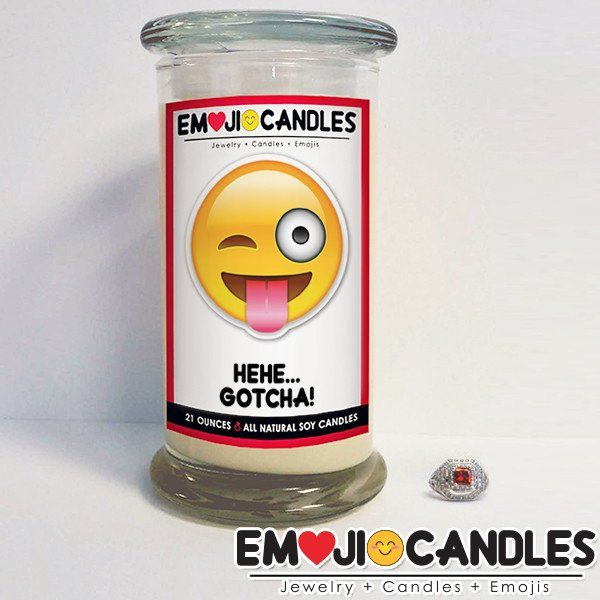 Hehe, Gotcha! - Emoji Candles. Add a little fun & personal touch to your gift.. with an Emoji Candle! Yes, the Emojis everyone loves now has a candle that will make everyone smile!