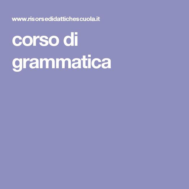 corso di grammatica