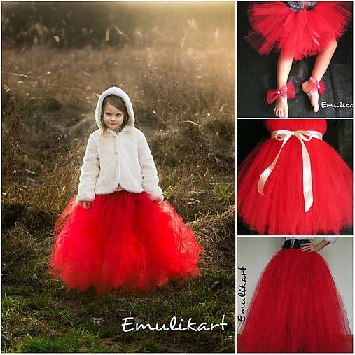 emulikart / Tutu tylové sukne/šaty na fotenie