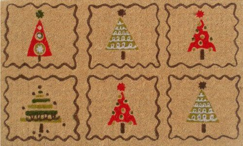 """Christmas Trees 17""""x29"""" Coir with Vinyl Backing by Momentum Mats. $19.99. Makes a Great Gift - Free Gift Enclosure. 100% Natural Coir with Vinyl Backing for Long-Lasting Wear and Durability. In Stock - Ships in 1-2 days. Fade Resistant, Color Fast and Weather Tolerant. Traps Dirt and Moisture. Momentum Mats has been a trusted manufacturer for 28 years and we take great pride in the fact that we use only 100% natural coir and vinyl in our doormats.  Our manufac..."""