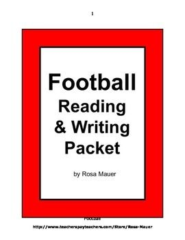 Football: Football season is here. In this self-contained Language Arts packet, you will receive items such as vocabulary word cards and definitions, a nonfiction passage with reading comprehension questions, a poem about football, an alphabetical order worksheet, and an editing practice worksheet.