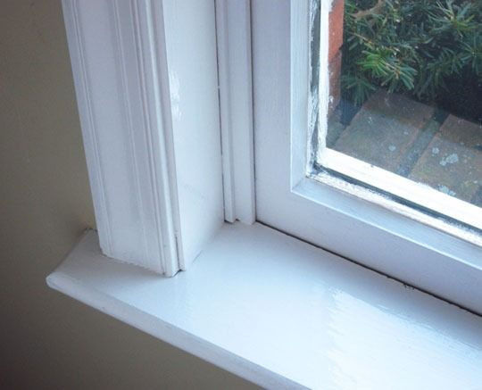 The Easy Way to Paint Window Trim ....tips..... Qtip Chapstick on glass first
