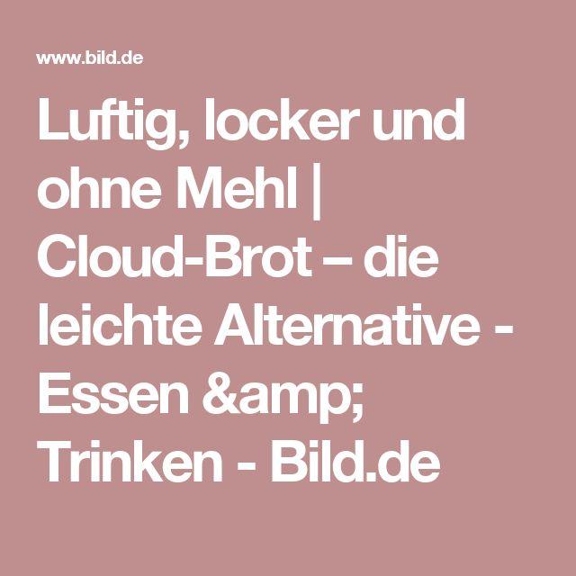 Luftig, locker und ohne Mehl | Cloud-Brot – die  leichte Alternative  -  Essen & Trinken -  Bild.de