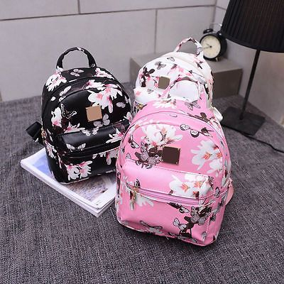 Find More Backpacks Information about ecoparty Ladies Backpack Travel PU Leather Floral Butterfly Print Rucksack Shoulder School Bag Black Pink White,High Quality shoulder school bags,China school bags black Suppliers, Cheap ladies backpack from Shop2823052 Store on Aliexpress.com