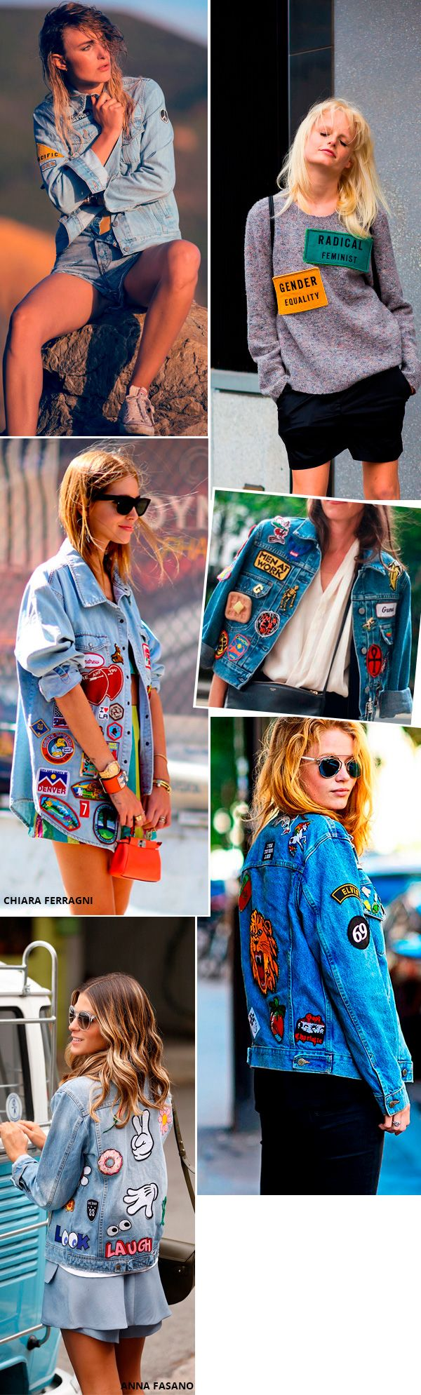 Street style look com patches
