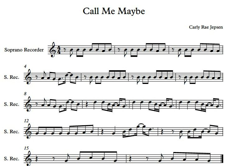 Call me maybe on recorder : Music Education-Recorder : Pinterest : Call Me Maybe, Black Belt and ...