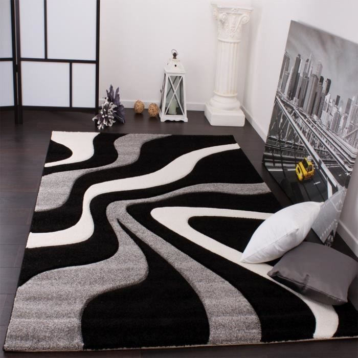 Impressionnant Tapis Design Noir Et Blanc Tapis Noir Et Blanc Tapis Noir Tapis Blanc