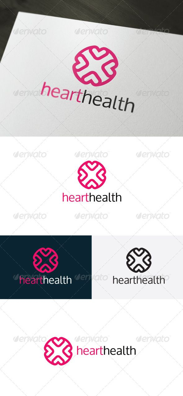 Heart Health Logo — Photoshop PSD #red #corporation • Available here → https://graphicriver.net/item/heart-health-logo/6634299?ref=pxcr