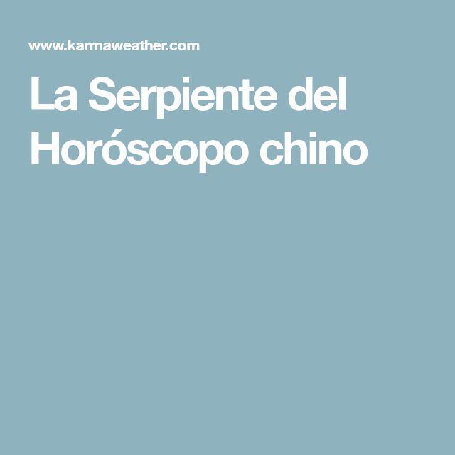 La Serpiente del Horóscopo chino