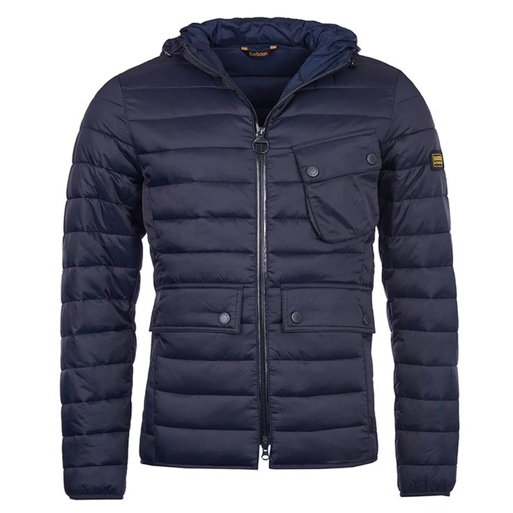Barbour Ouston Hooded Quilt Jacket -Navy - Barbour - Shop By Brand