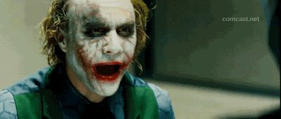 heath ledger joker gif | Krusty, le clown des Simpson, n'est pas franchement net non plus.