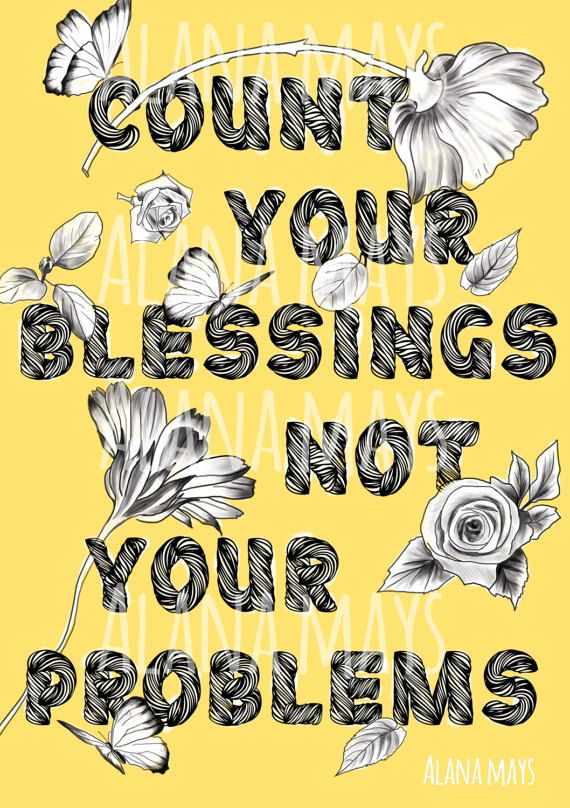 Count your Blessings printable wall art by AlanaMaysCreations. Downloadable digital file for $10 on Etsy