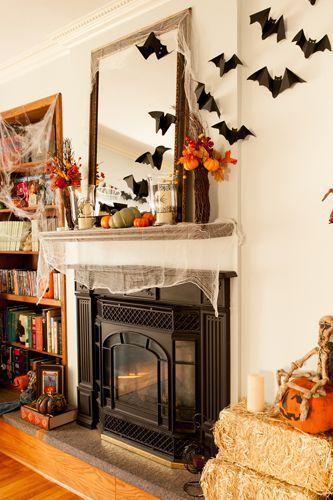 pin by susan van winkle on holiday decor halloween fireplace diy rh pinterest com