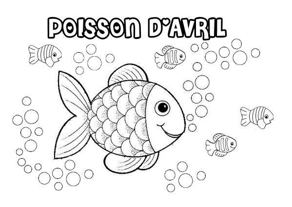 """coloriage poisson d'avril trouvé sur le site """" coloriages.biz """" et retravaillé…"""
