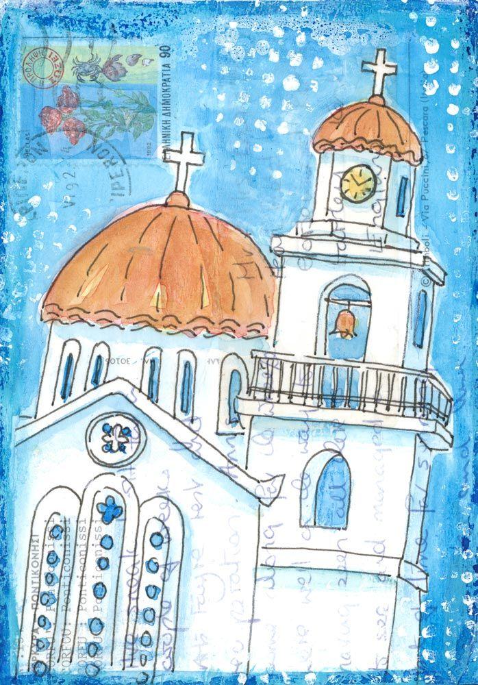 Corfu Church | Gill Tomlinson Art