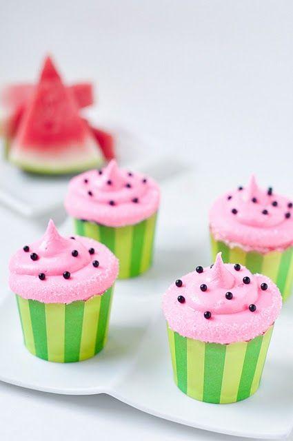 watermelon cupcakesSummer Picnic, Watermelon Cupcakes, Fun Recipe, Watermelon Parties, Watermelon Recipe, Summer Bbq, Sweetest Kitchens, Summer Birthday, Cupcakes Rosa-Choqu