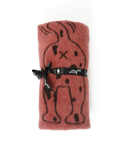 WAGWORLD WINTER BLANKIE - PINK & CHOC. Available from www.nuzzle.co.za