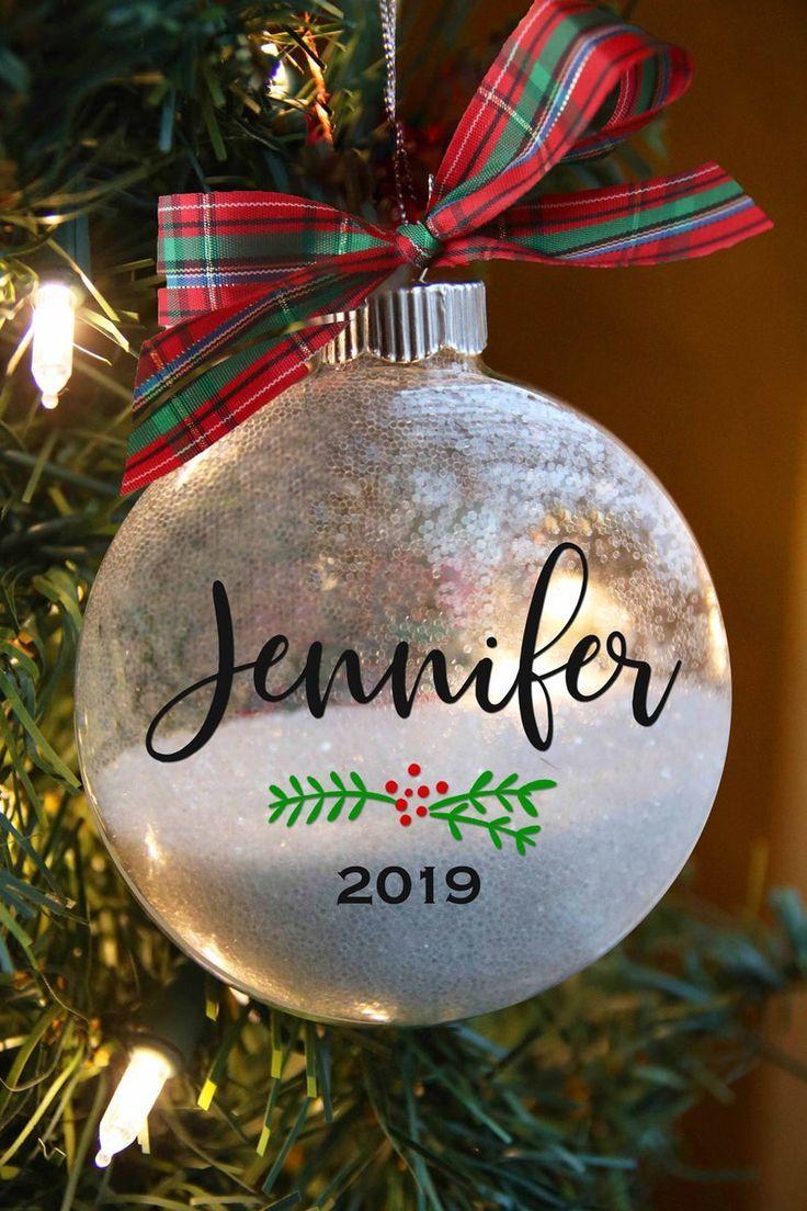 Personalized Christmas Ornament Custom Name Gift For Friend Etsy Personalized Christmas Ornaments Christmas Ornaments Rustic Christmas Ornaments