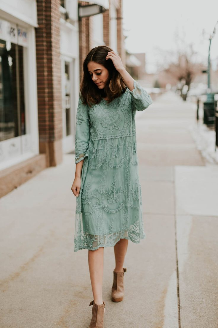 Adalyn Dress in Sage
