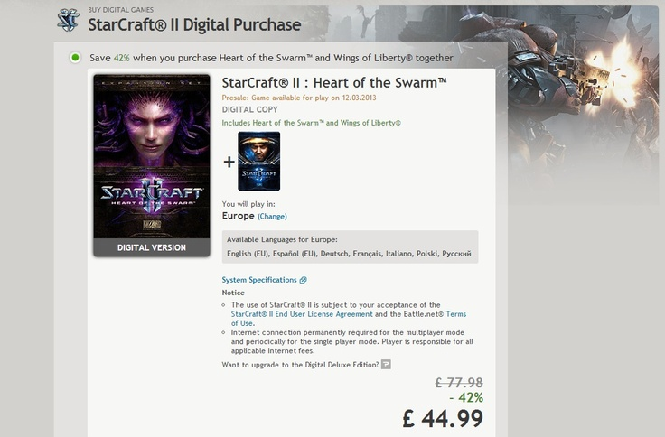 StarCraft 2: Heart of the Swarm Release Date Revealed