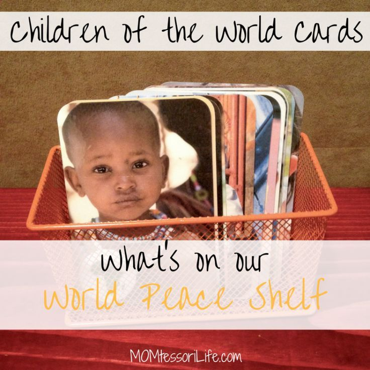 What's On Our World Peace Shelf — Children of the World Cards