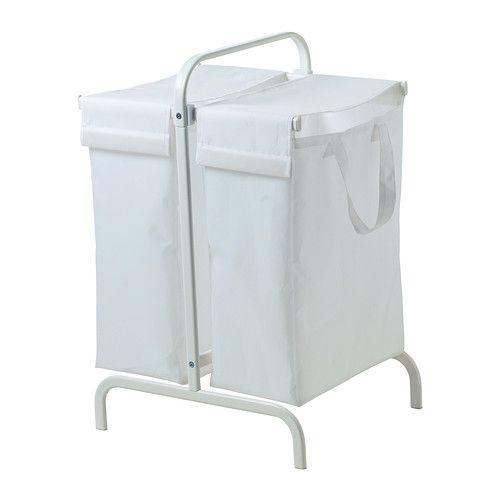 MULIG Waszak met standaard IKEA In de twee aparte waszakken kan lichte en donkere was worden gesorteerd.