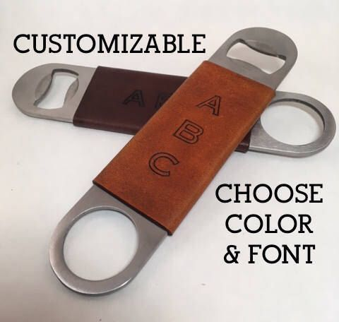 A personal favorite from my Etsy shop https://www.etsy.com/listing/529896479/custom-bottle-opener-personalized-flat