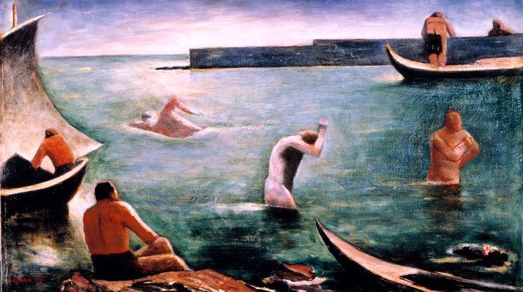 I nuotatori     Carlo Carra · 1932