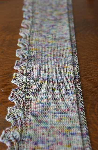 beautiful knitted scarf
