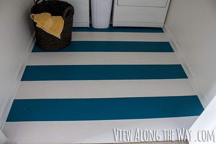 These floors are painted easy inexpensive way to update for Painted vinyl floor ideas