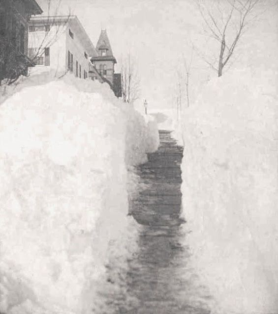 """New Britain, CT after the """"Great White Hurricane"""" blizzard of 1888"""