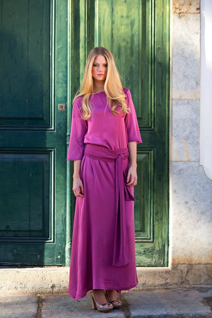 Modest Purple Dress