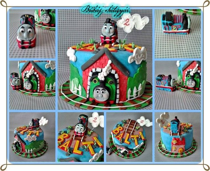 Thomas train fondant cake look at my page https://www.facebook.com/BubajSutigyar?ref=hl