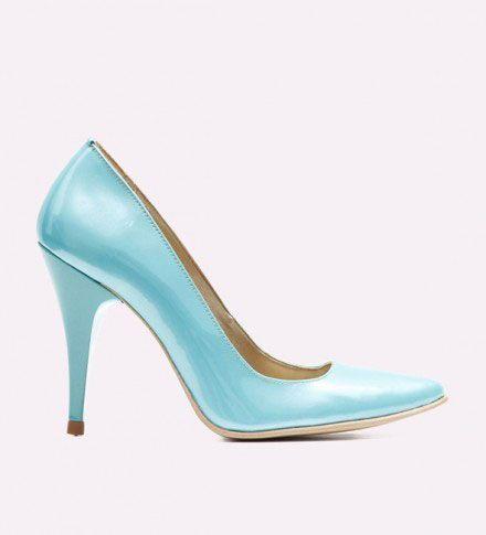 pantofi cu toc albastri