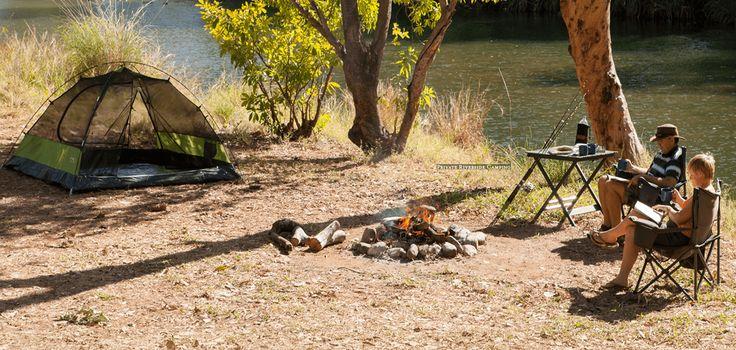 A private river campsite at El Questro Station, WA.