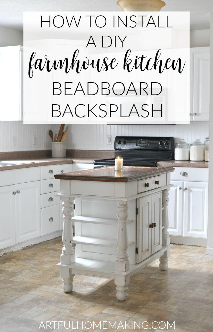 How To Install A Beadboard Kitchen Backsplash Beadboard Kitchen