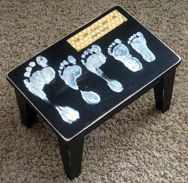 Good Mother Christmas Gifts Part - 50: {motheru0027s Day Ideas} - Stool With Footprints Of Each Child...how