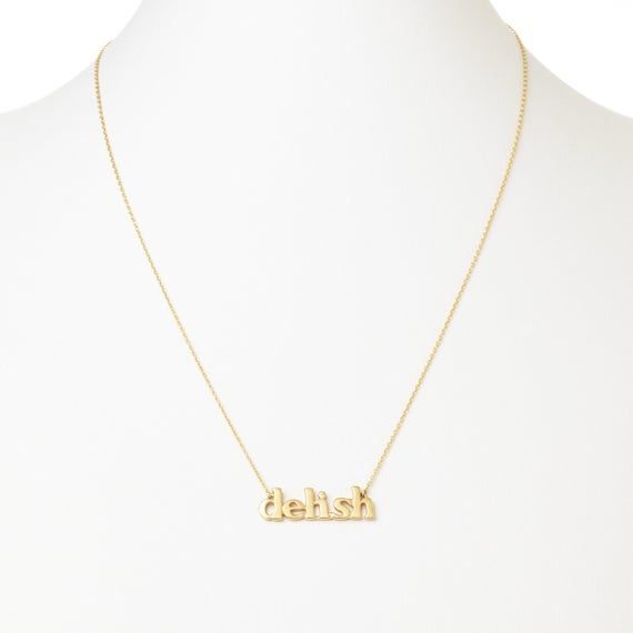 Name Necklace Gold and Silver beginning with F