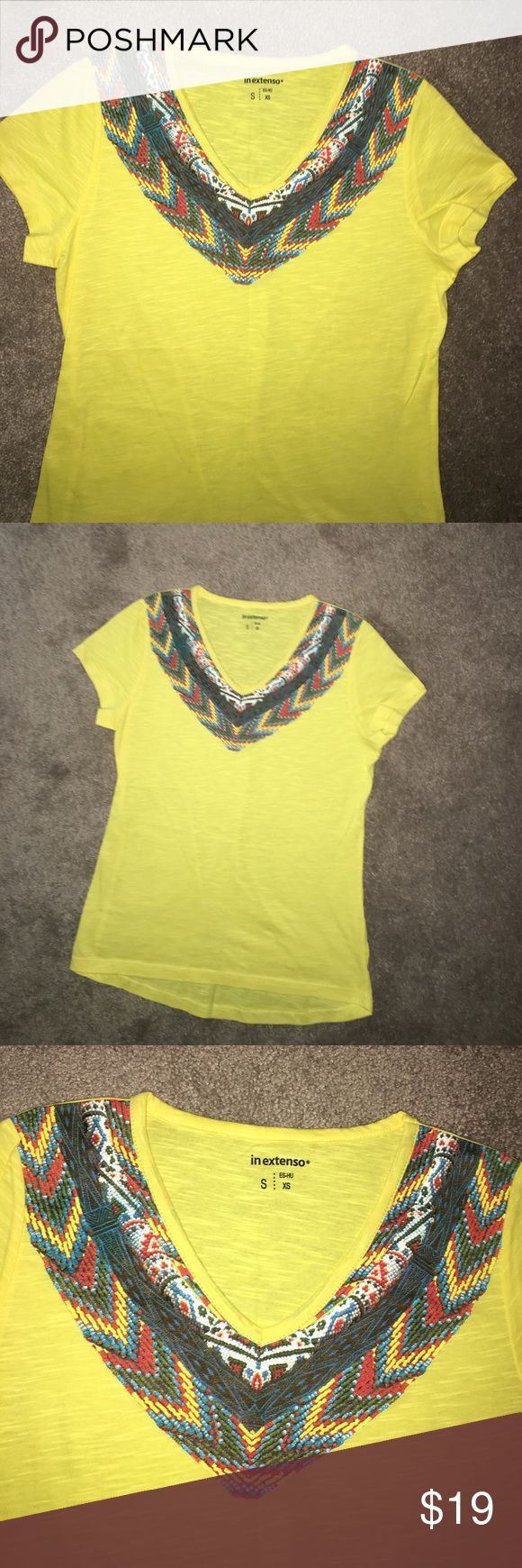 New top Europe brand No tag Brand New !both this summer from Spain never worn new yellow top Xs Victoria's Secret Tops Tank Tops