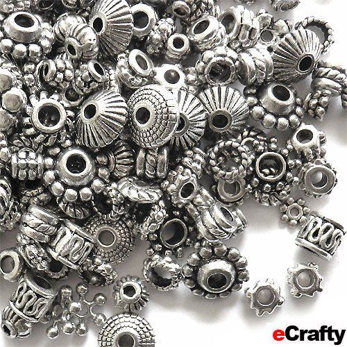 eCrafty EC-1155 100-Piece Bali Style Deluxe Spacer Mix Metal Beads, 100gm, Silver eCrafty http://www.amazon.com/dp/B00299TM6S/ref=cm_sw_r_pi_dp_X.hStb0QRN3R2P51