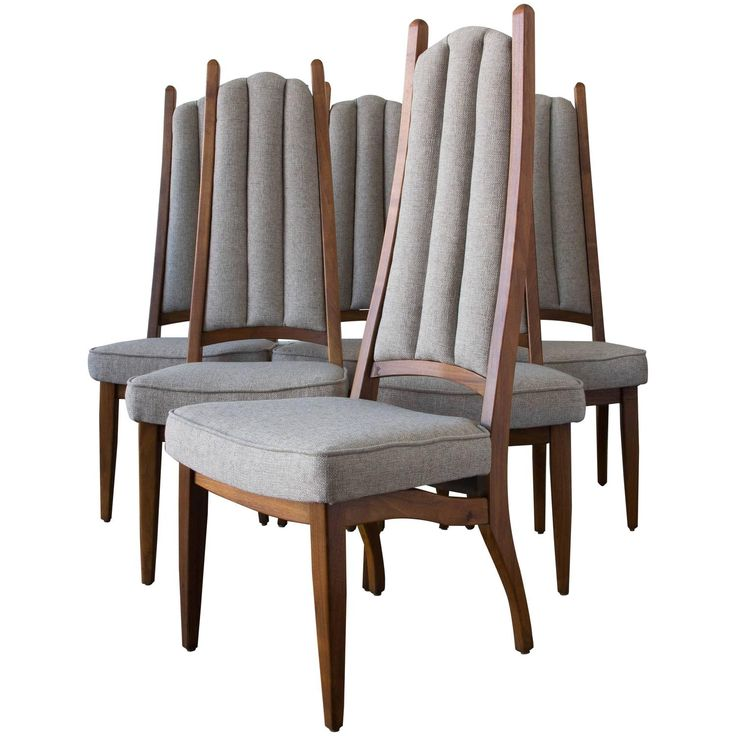 Set of Six Cal-Mode High Backed Dining Chairs