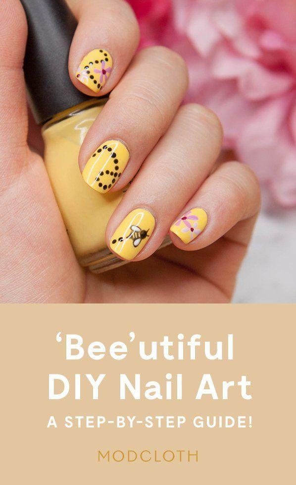 diy nail art that s totally bee utiful diy pinterest nail rh pinterest com