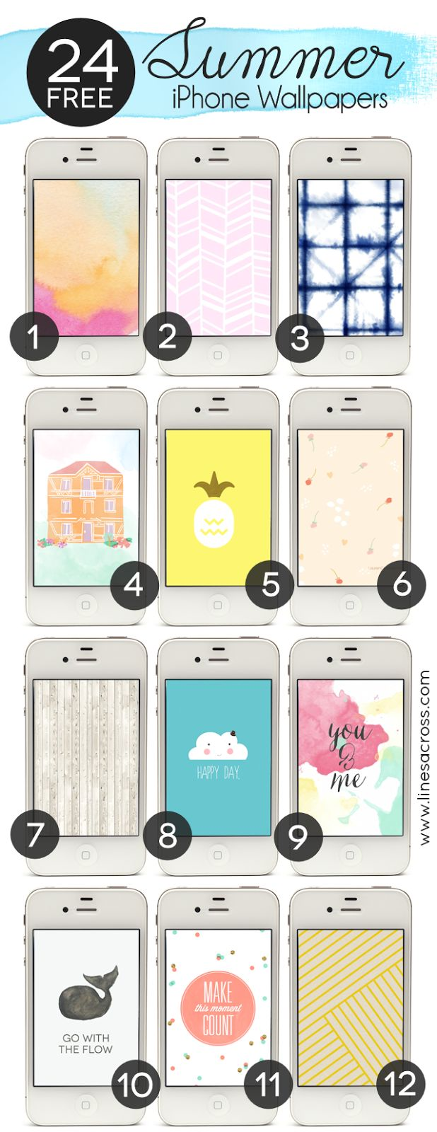 24 Free Graphic Summer iPhone Wallpapers
