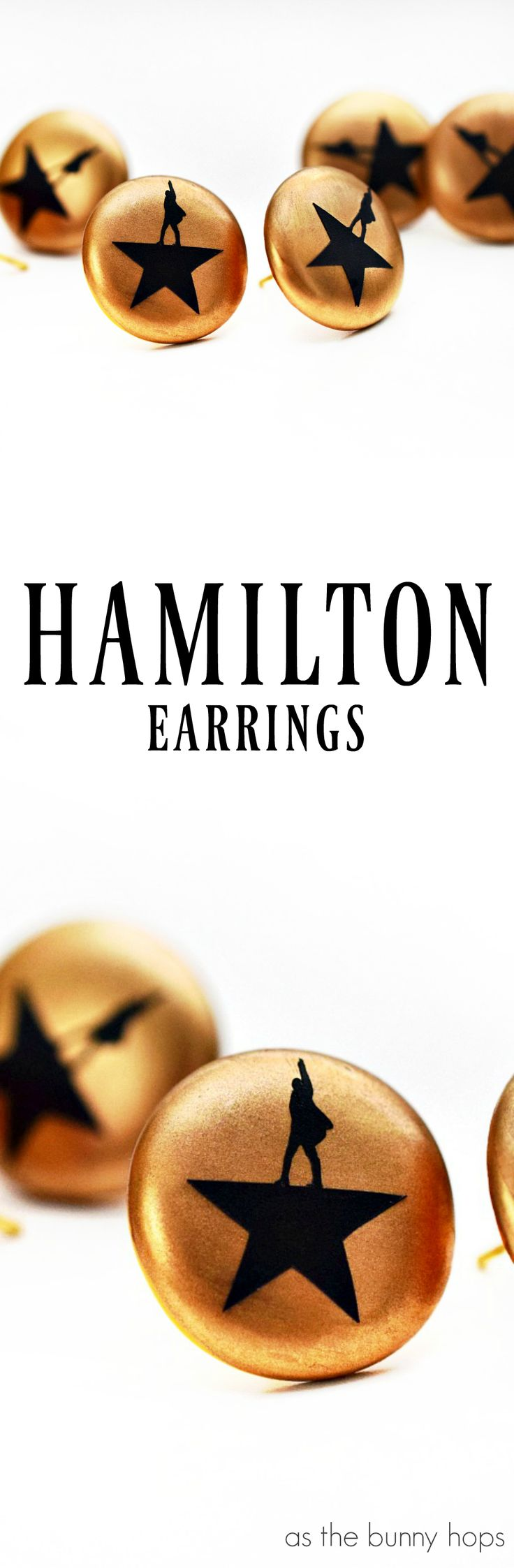 Hamilton fans-get ready to make some amazingly simple DIY Hamilton earrings! Includes a Silhouette cut file you can download!
