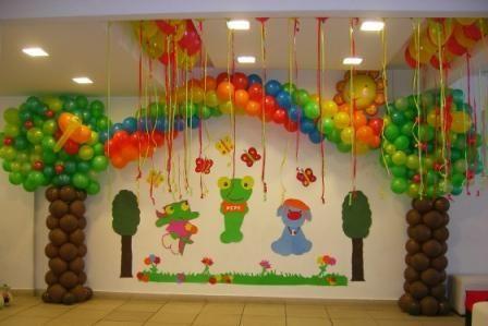 Decoracion con globos para fiestas infantiles buscar con for Buscar decoraciones